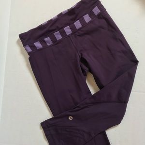 Lululemon Pace Rival Crop 22 tights Size 4 Purple
